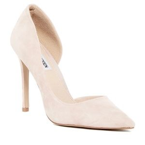 Steve Madden Felicity Nude Suede D'orsay Pumps